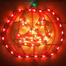 "18"" Pumpkin Window Light HOF-8646P"