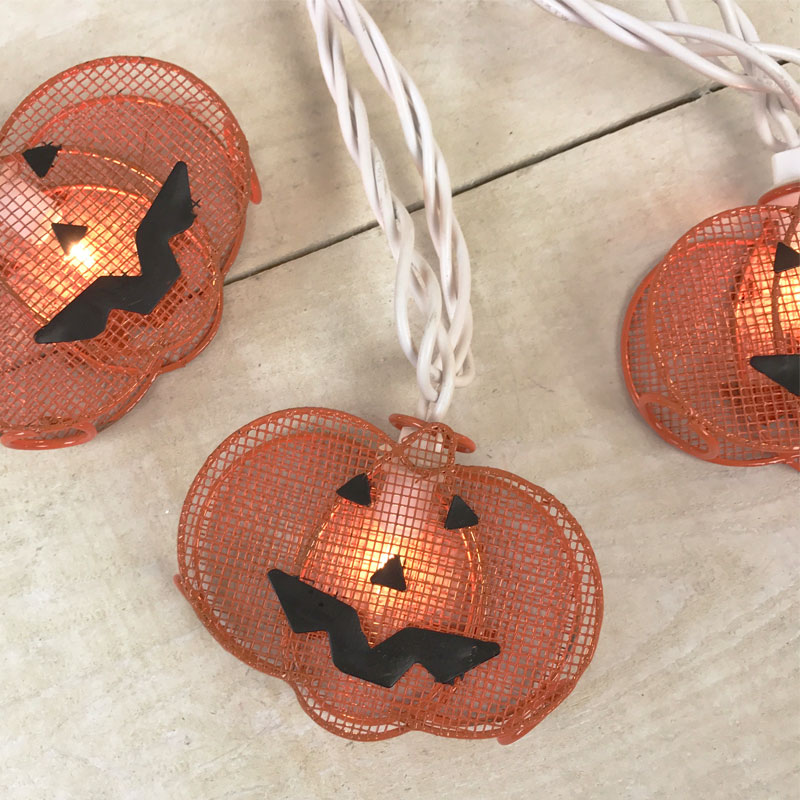 Jack 'O Lanterns Party String Lights - 10 Lights