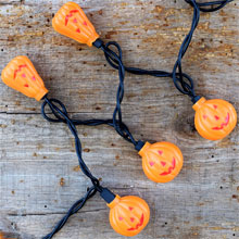 Mini Halloween Pumpkin Light Strand