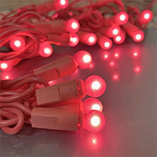 Pink Globe String Lights - 35 Count DR-620271P