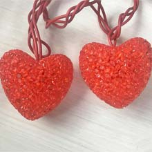 Sparkle Heart Party String Lights - 10 Lights PD-328F6111