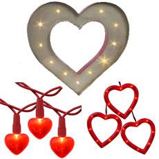 Red Decorative String Lights : Valentine's Day String Lights