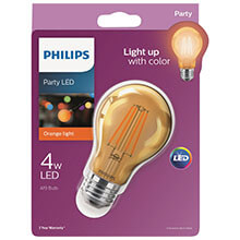 Philips Orange A19 LED Party Light Bulb - Medium Base