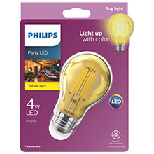 Philips Yellow A19 LED Party Light Bulb - Medium Base