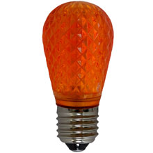 Amber LED S14 Crystal Cut Faceted Light Bulb