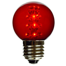 Red LED G50 Designer Globe Light Bulb