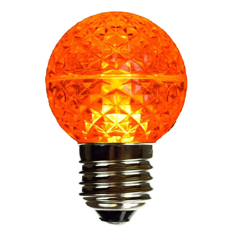 Amber LED Globe Light Bulb