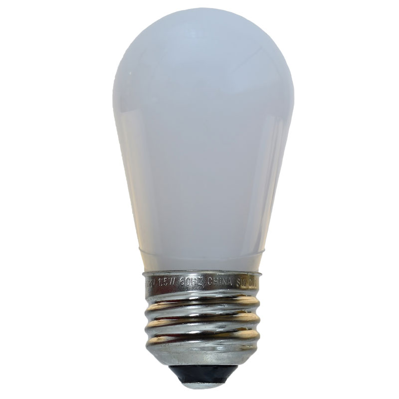 LED S14 Medium Base Light Bulb - Froster White / Plastic LI-S14LED-FR-PL