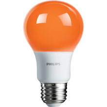Orange LED A19 Medium Base Light Bulb