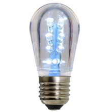 LED S14 Medium Base Light Bulb - White/Plastic