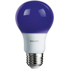 Purple LED A19 Medium Base Light Bulb - 8 Watts