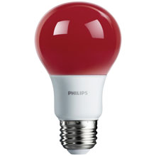 Red LED A19 Medium Base Light Bulb