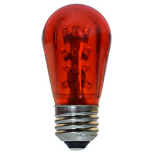LED S14 Medium Base Light Bulb - Red/Plastic