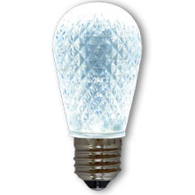 LED S14 Light Bulb - Medium Base - Faceted Bulb - Cool White