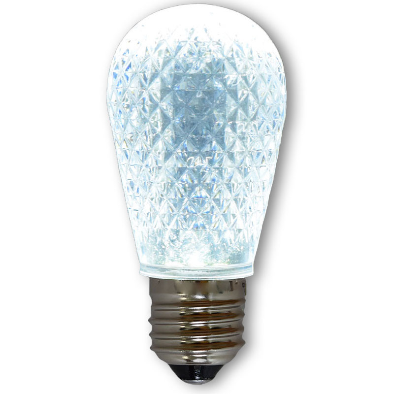 Cool White Led S14 Crystal Cut Faceted Light Bulb