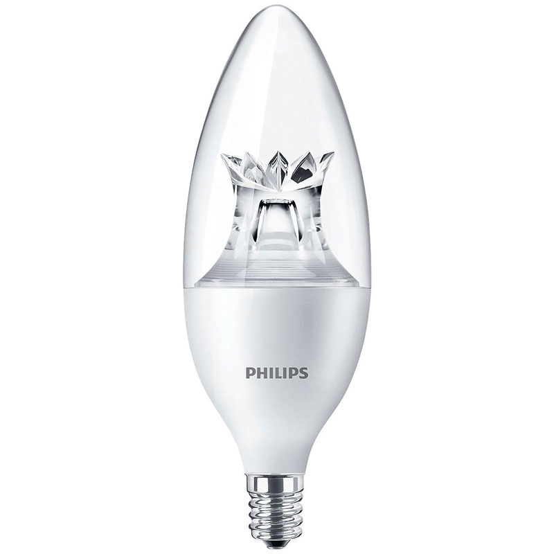 Dimmable Soft White B12 LED Light Bulb - Candelabra Base - 4.5W 501203