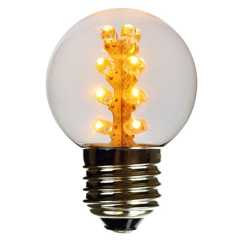 Warm White LED Globe Light Bulb - G50