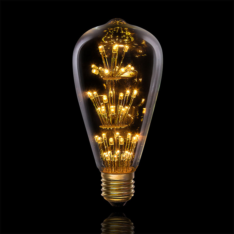 Led Vintage Edison Light Bulb 1 3 Watts 47 Leds 2 5 X 625 Inches