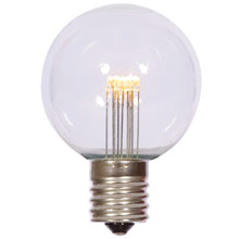 Warm White G50 Globe Light Bulb - E17 - Plastic AIS-G50I-PL-WW