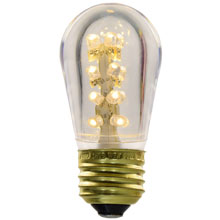 LED S14 Medium Base Light Bulb - Warm White/Plastic