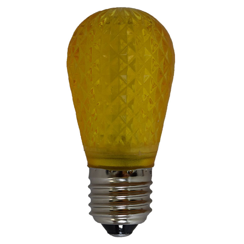 Yellow Led S14 Crystal Cut Faceted Light Bulb