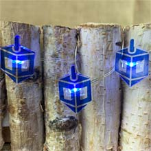 Dreidel Hanukkah LED Fairy Lights - Battery Operated C5525-D