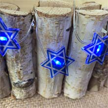 Star of David Hanukkah LED Fairy Lights - Battery Operated C5525-S
