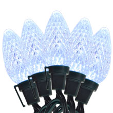 Pure White C9 LED Party String Lights