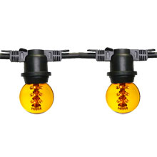 48' Designer Globe Commercial Light Strand - Yellow G50 LED