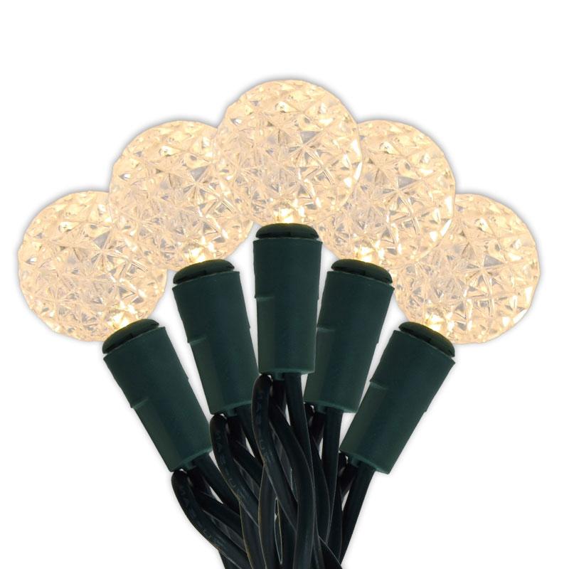 Diamond Cut Warm White Led Mini Globe String Lights