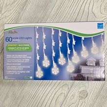 Snowflake LED Icicle Lights - 60 Lights BS-75200