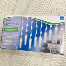 Pure White LED Icicle Lights - 60 Lights BS-75300