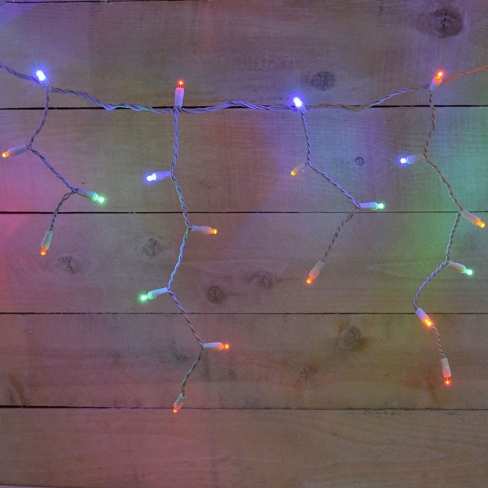 100 LED Multi-Color Icicle Lights