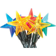 LED Multi-Color Star Party String Lights
