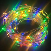 Multi-Color LED Starry Fairy Dewdrop String Lights LI-1004-MU