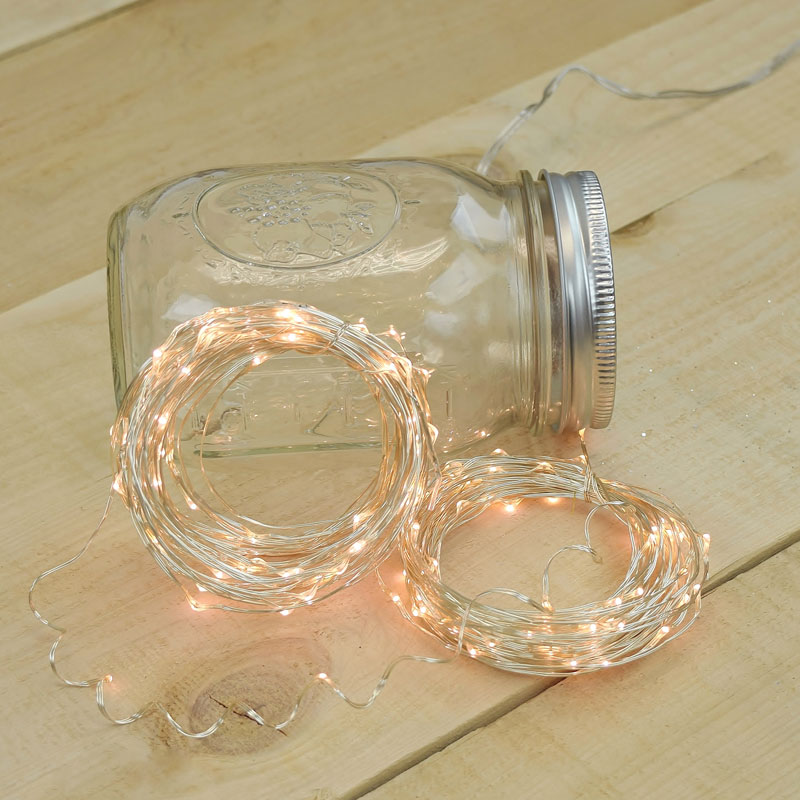 50' Warm White LED Multifunction String Lights