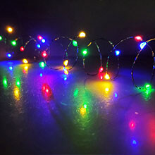 Multi-Function Orange LED Micro String Lights w/ Timer - 10 ft. GC2280320