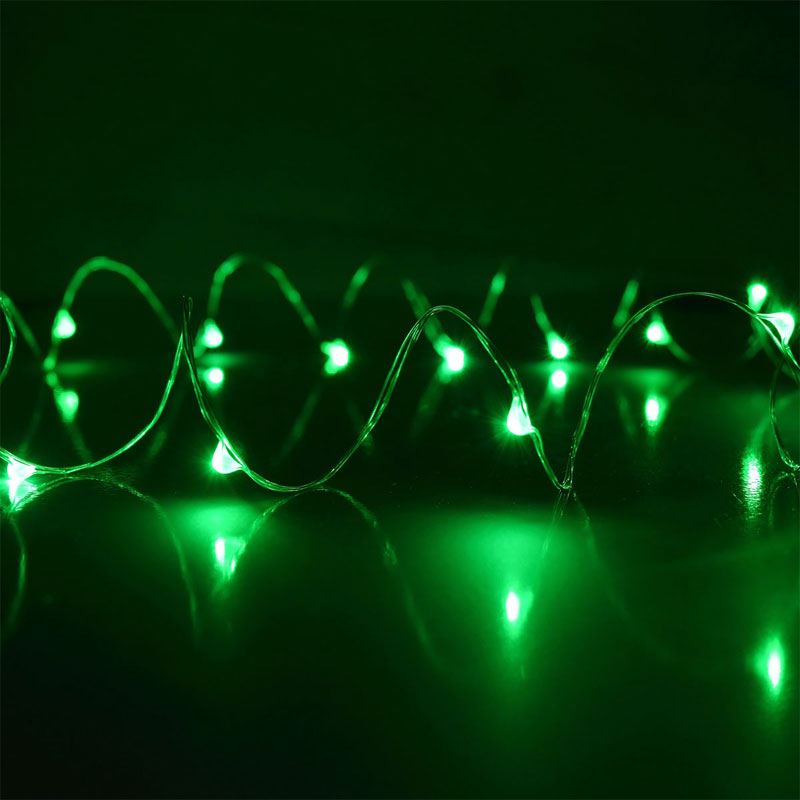 Green LED Starry Fairy DewDrop String Lights