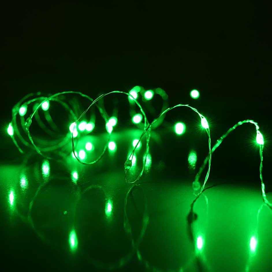 Green Ultra Thin Twinkling Fairy Lights - 30 Lights