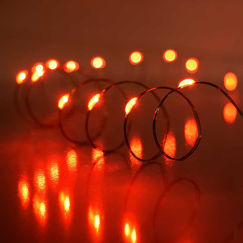 REd LED Battery Operated Ultra Thin Wire String Light