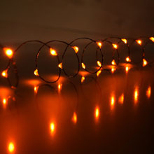 Micro Orange Party String Lights