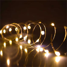 Warm White Ultra Thin Battery Operated Lights