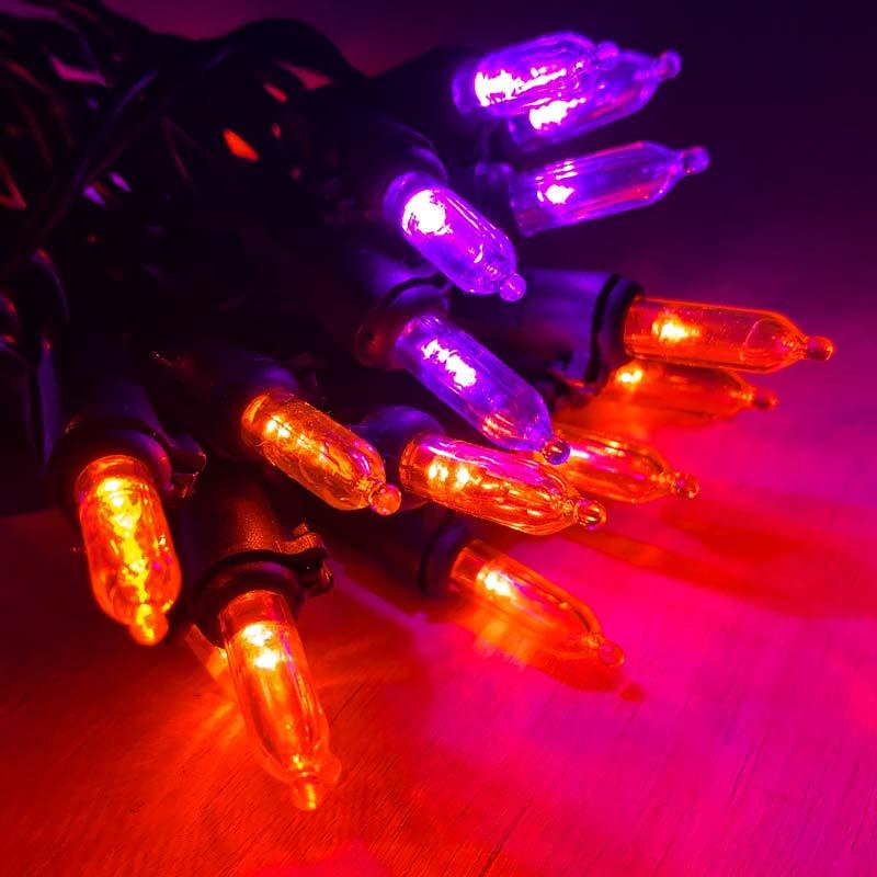 30 Count Purple Orange Led Mini String Lights