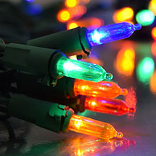 Multi Color LED Traditional String Lights