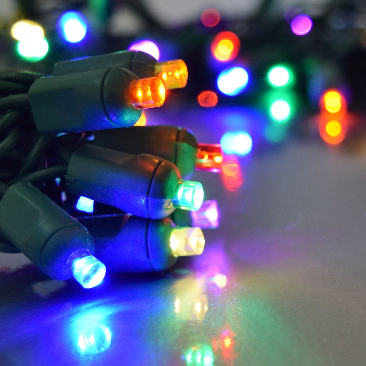 multi color led party string light 50 lights. Black Bedroom Furniture Sets. Home Design Ideas