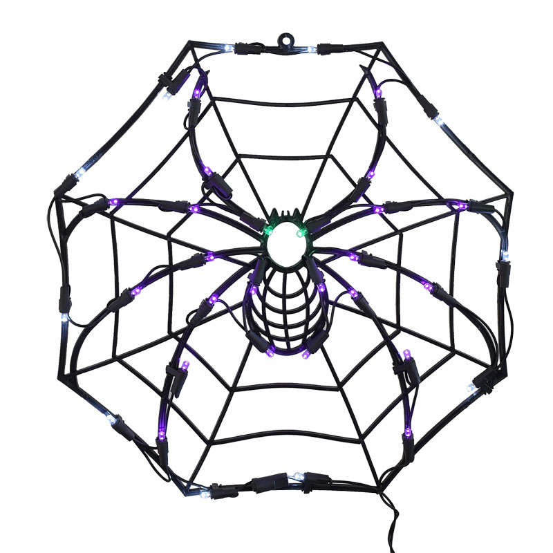 Halloween Spider Web LED Sculpture Light