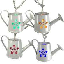 White Watering Can String Lights - Multicolor LED UL5015