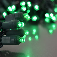Green LED Party Light Strand Reel
