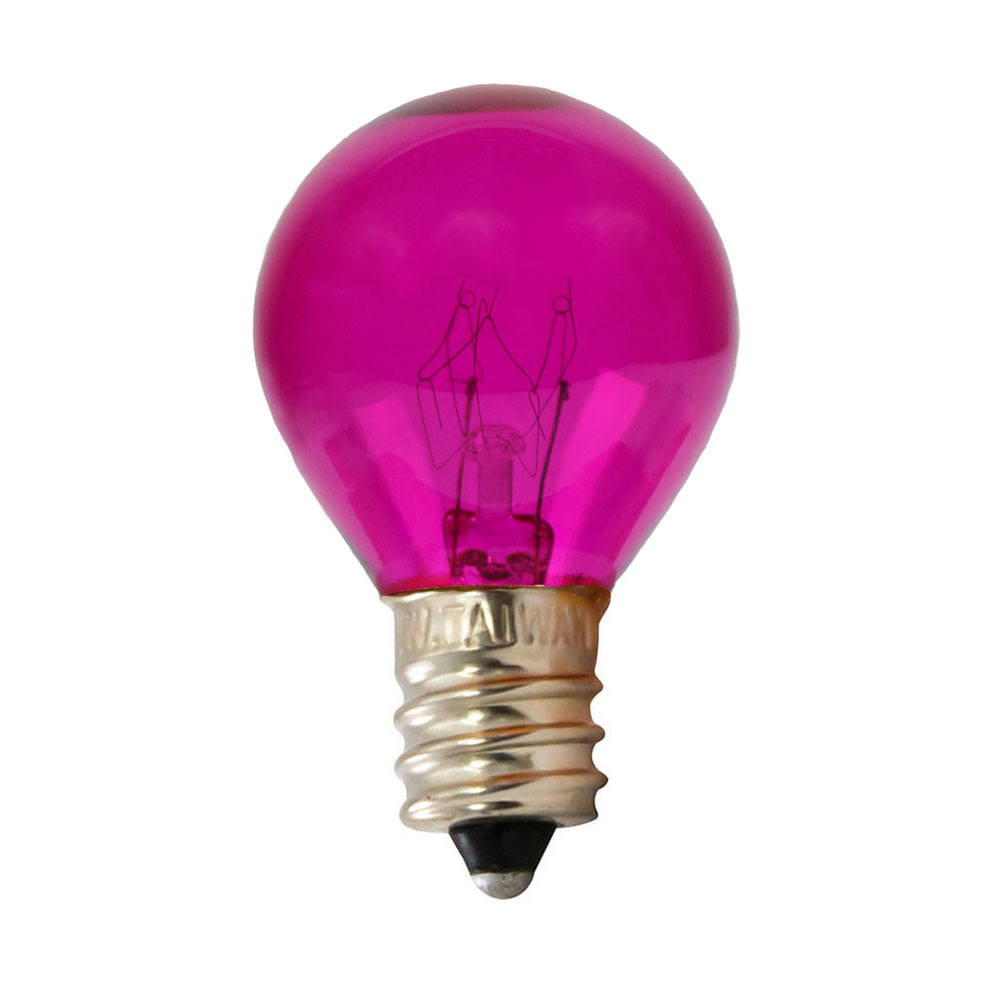 10 Watt Pink Candelabra Light Bulb