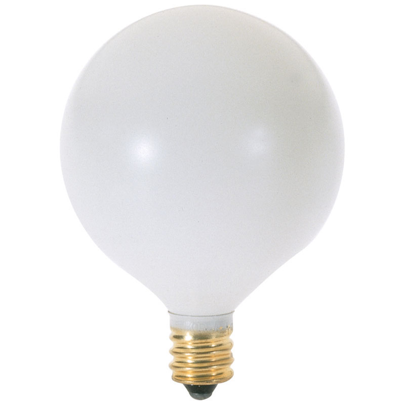 Dimmabel G16.5 Globe Light Bulb, White - 60W - 2 Pack 528935